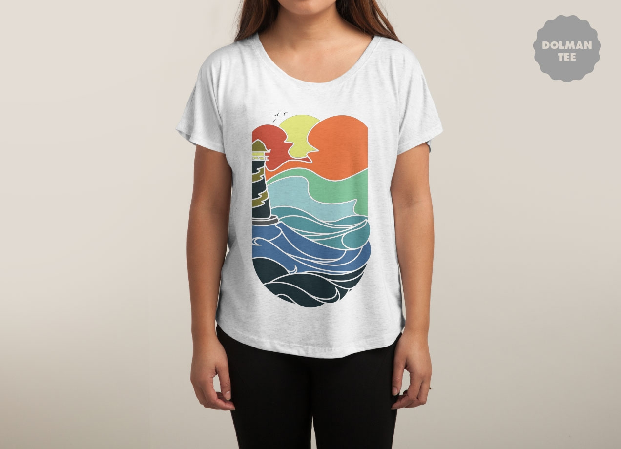 I CAN SEE THE SEA T-shirt Design by sebastian woman