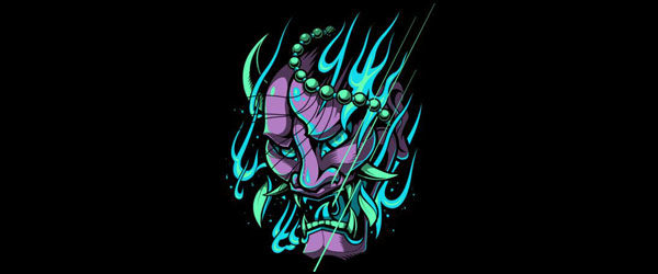 Limited Edition Oni Mask T-shirt Design front main