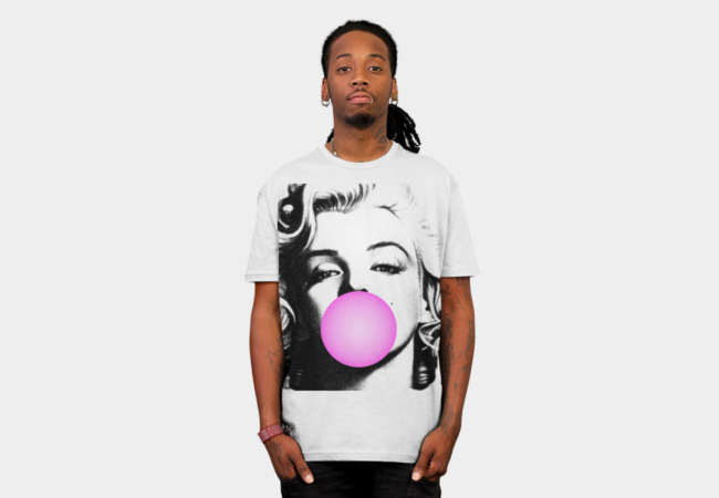 Marilyn Chewing Gum T-shirt Design man