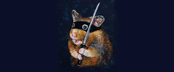 NINJA HAMSTER T-shirt Design by creese main image