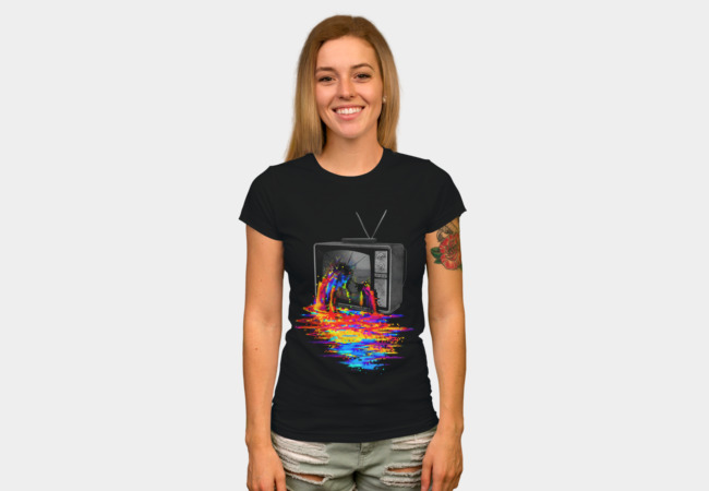 Pixel Overload T-shirt Design by nicebleed woman