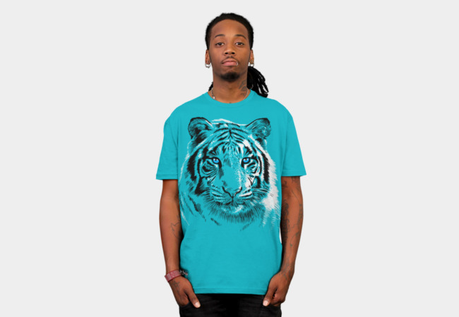 White Tiger T-shirt Design by Alberto Perez Chamosa man