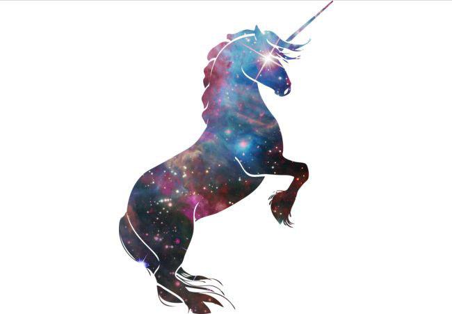 Space unicorn T-shirt Design by TshirtsDen tee