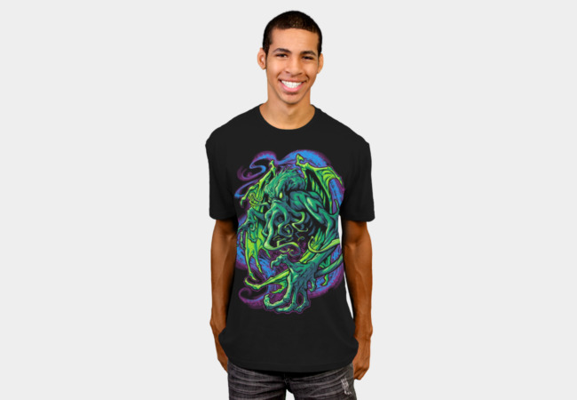 TERROR OF CTHULHU T-shirt Design man