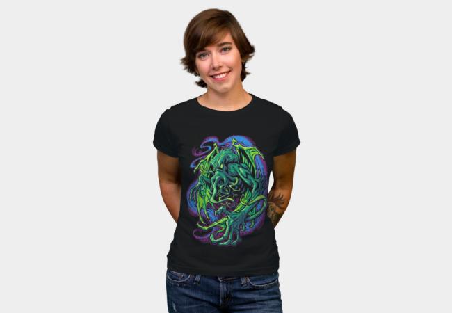TERROR OF CTHULHU T-shirt Design woman