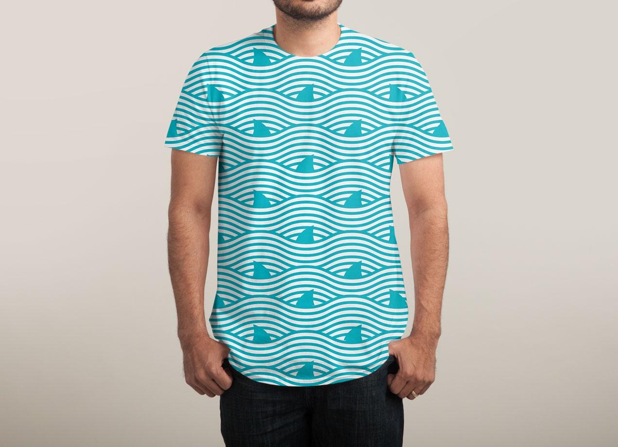WAVES OF SHARKS T-shirt Design man