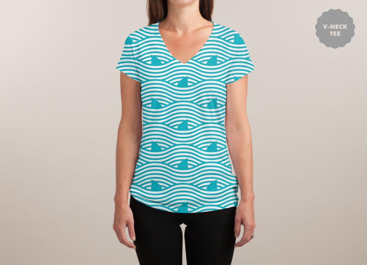 WAVES OF SHARKS T-shirt Design woman