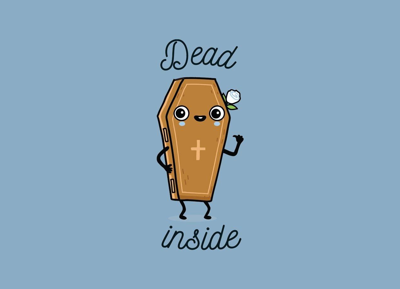 DEAD INSIDE T-shirt Design by Wawawiwa main