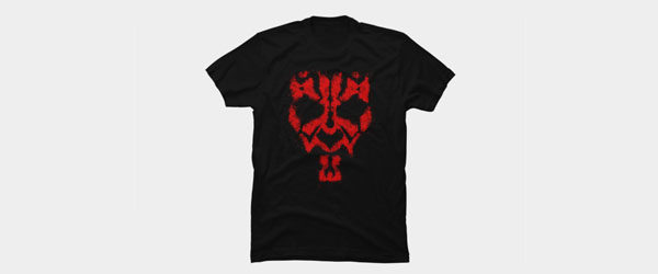Darth Maul Grunge T-shirt Design main image tee