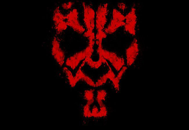 Darth Maul Grunge T-shirt Design main image