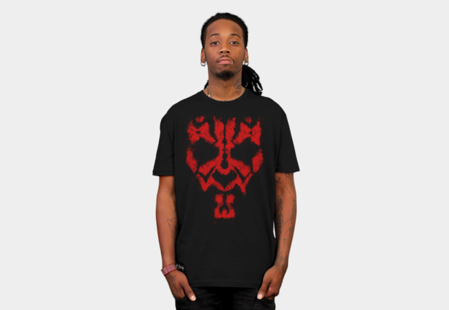 Darth Maul Grunge T-shirt Design man