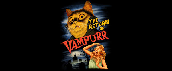 THE RETURN OF VAMPURR T-shirt Design by Khairul Anam design main