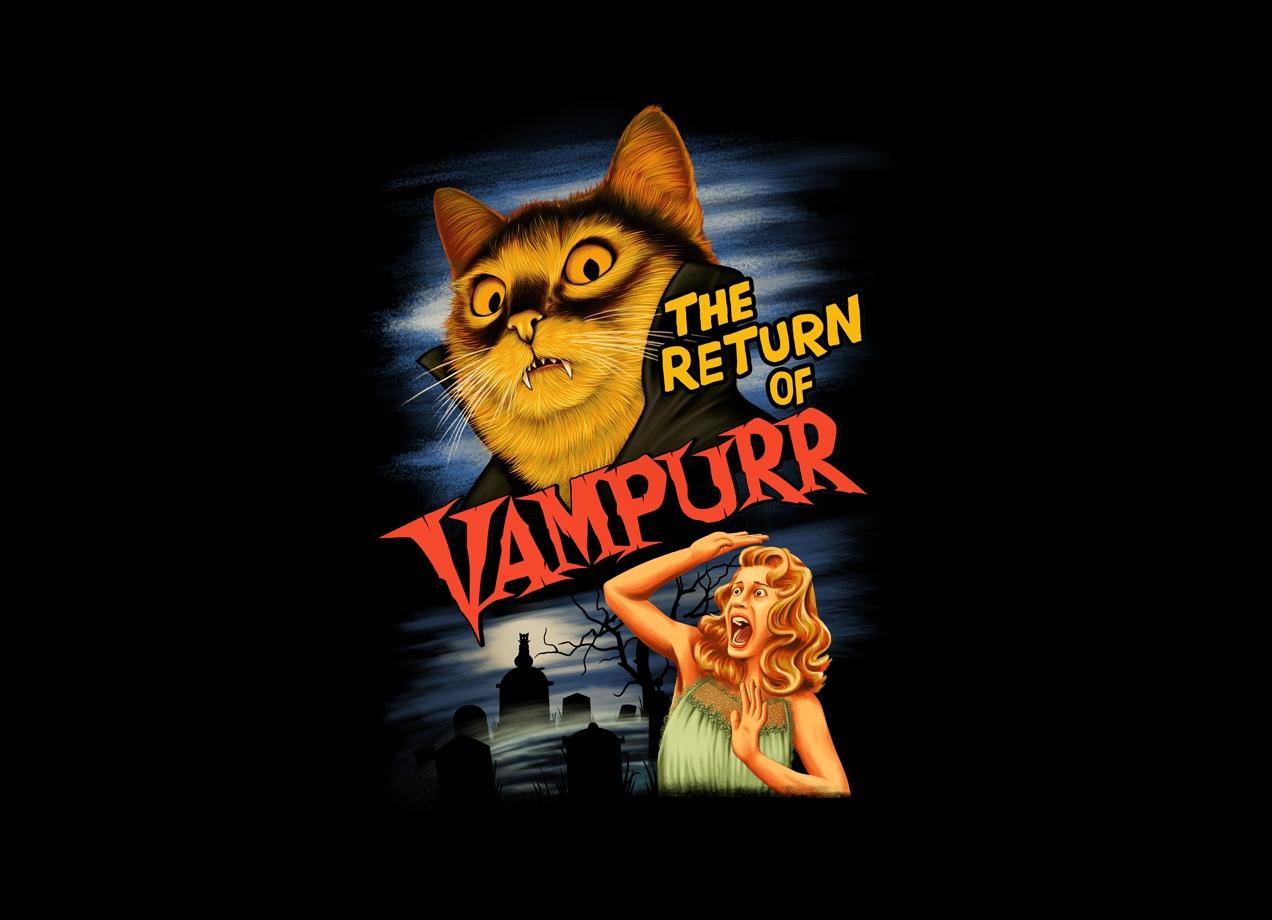 THE RETURN OF VAMPURR T-shirt Design by Khairul Anam design