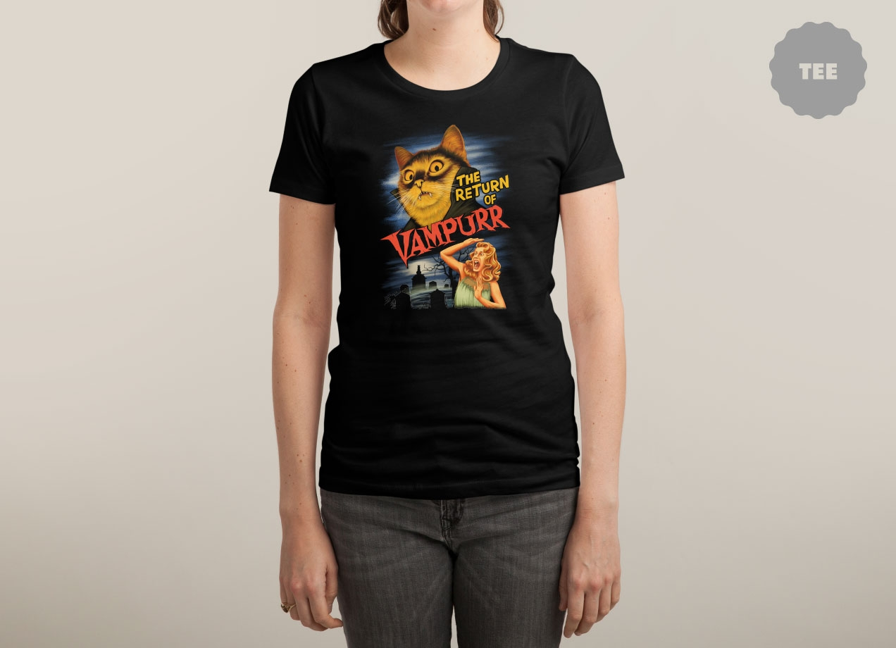 THE RETURN OF VAMPURR T-shirt Design by Khairul Anam woman
