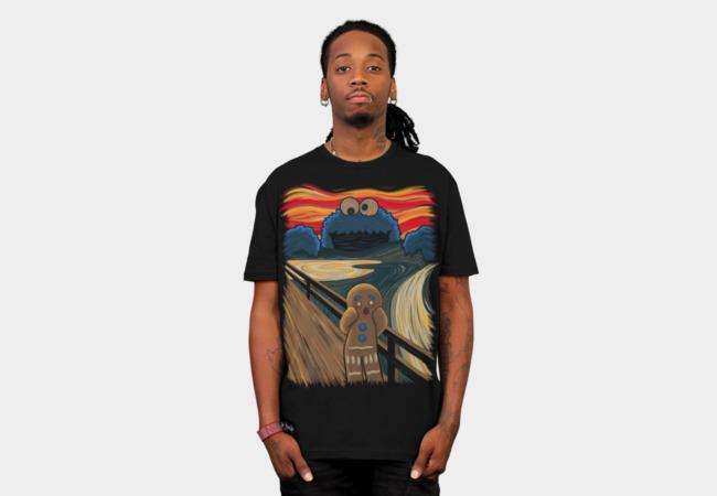 The Cookie Muncher T-shirt Design man