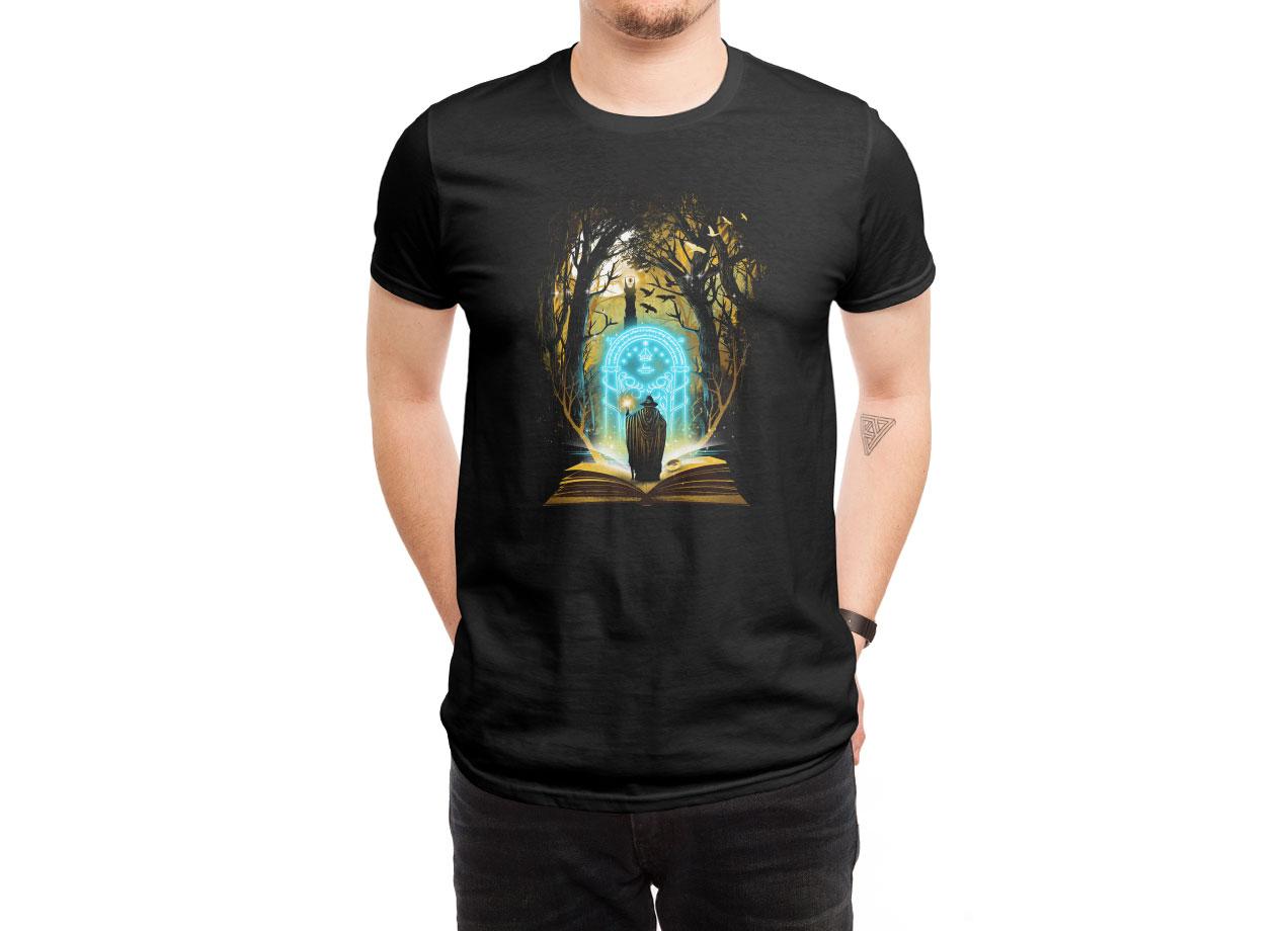 BOOK OF MAGIC AND ADVENTURES T-shirt Design by dandingeroz man