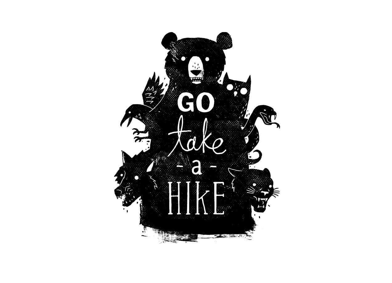 GO TAKE A HIKE T-shirt Design by Michael Buxton design
