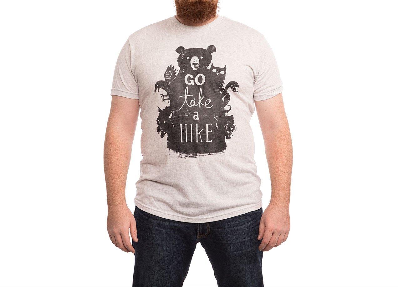 GO TAKE A HIKE T-shirt Design by Michael Buxton man