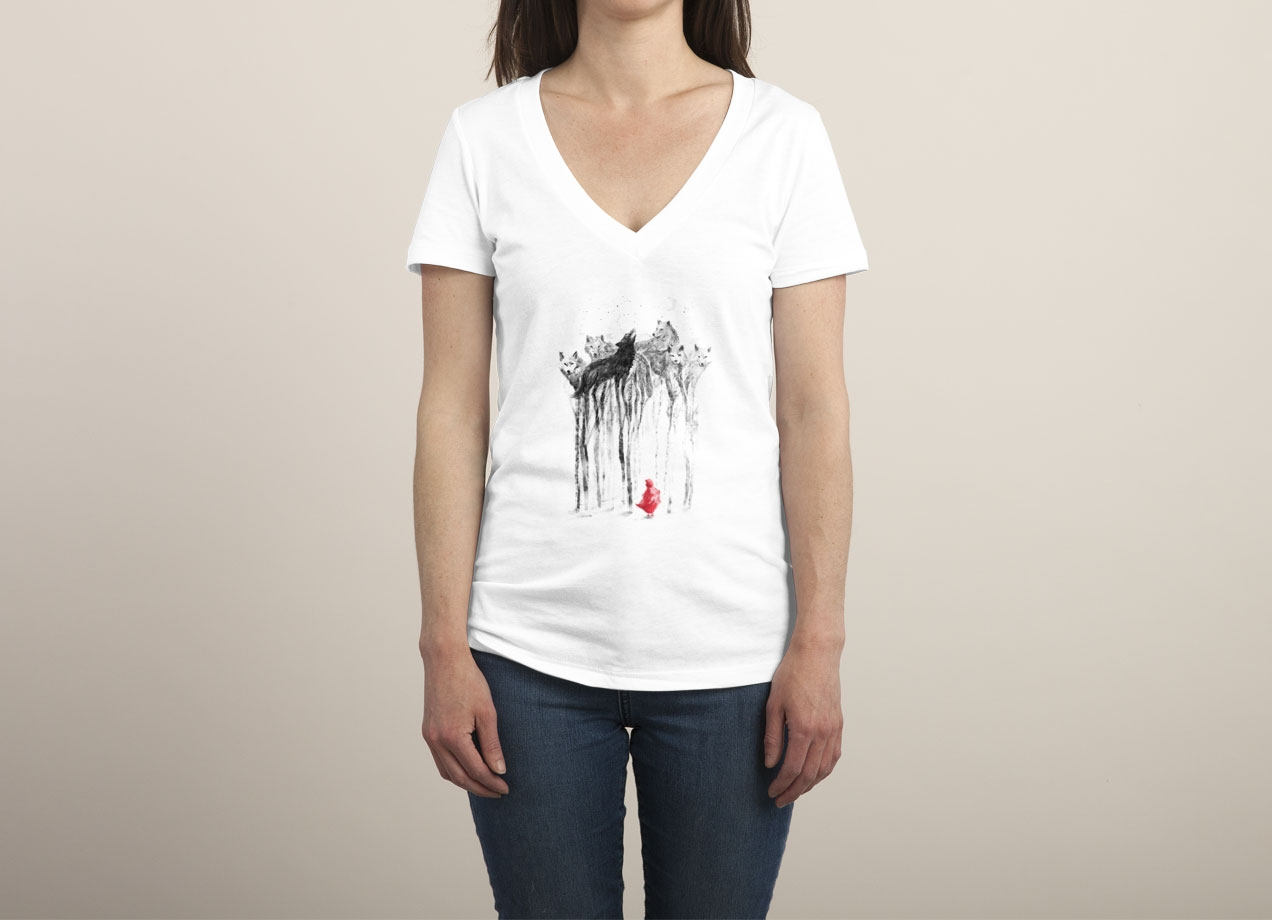 INTO THE WOODS T-shirt Design by 38Sunsets woman