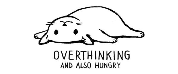 OVERTHINKING AND ALSO HUNGRY T-shirt Design by Fox Shiver main