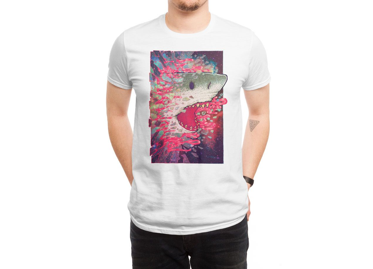 SHARK FROM OUTER SPACE T-shirt Design by Villainmazk man