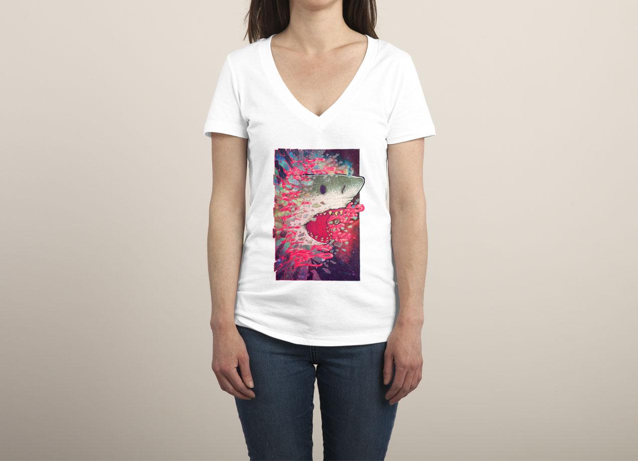 SHARK FROM OUTER SPACE T-shirt Design by Villainmazk woman