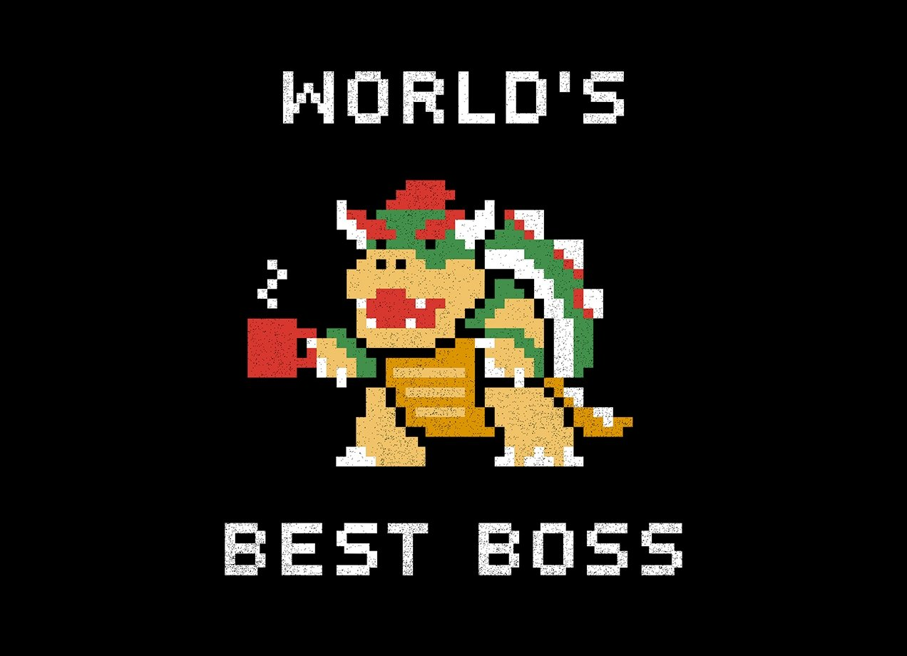 WORLD'S BEST BOSS T-shirt Design by Cody Weiler design