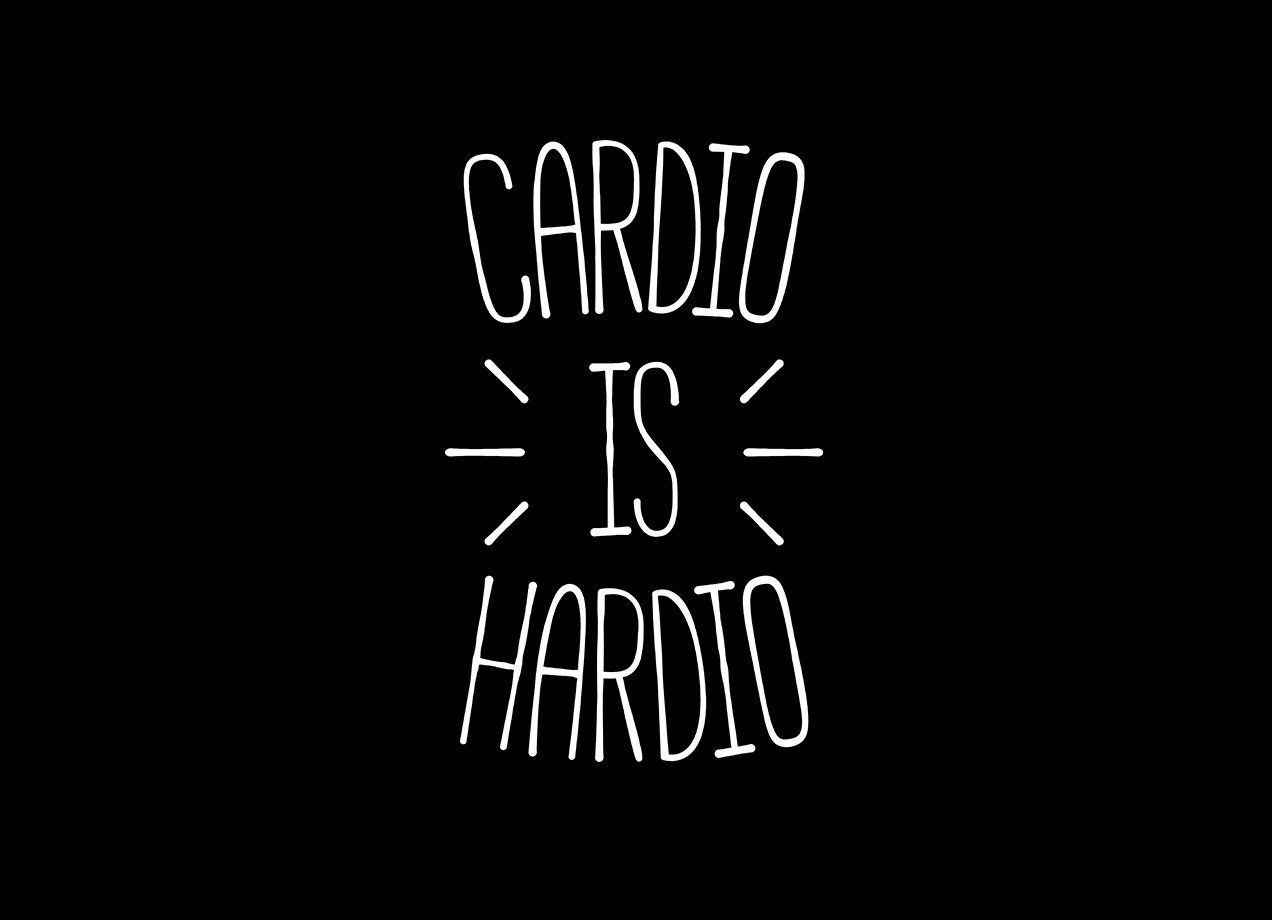 CARDIO IS HARDIO T-shirt Design by redyolk main
