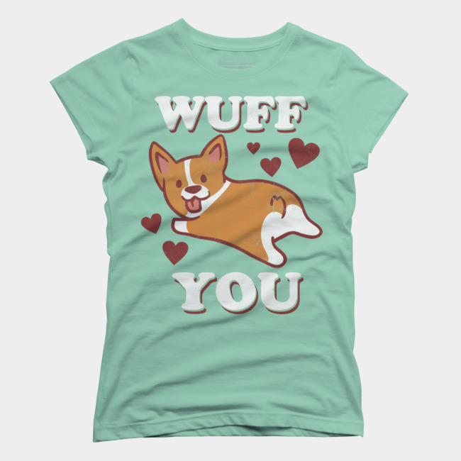 Corgi Love T-shirt Design by lostgods woman tee