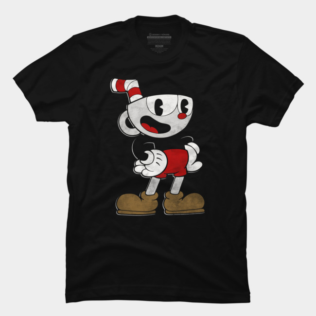 Cuphead Pose T-shirt Design by Cuphead from United States man tee
