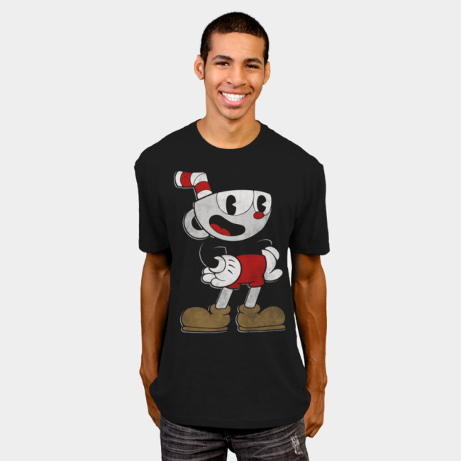 Cuphead Pose T-shirt Design by Cuphead from United States man