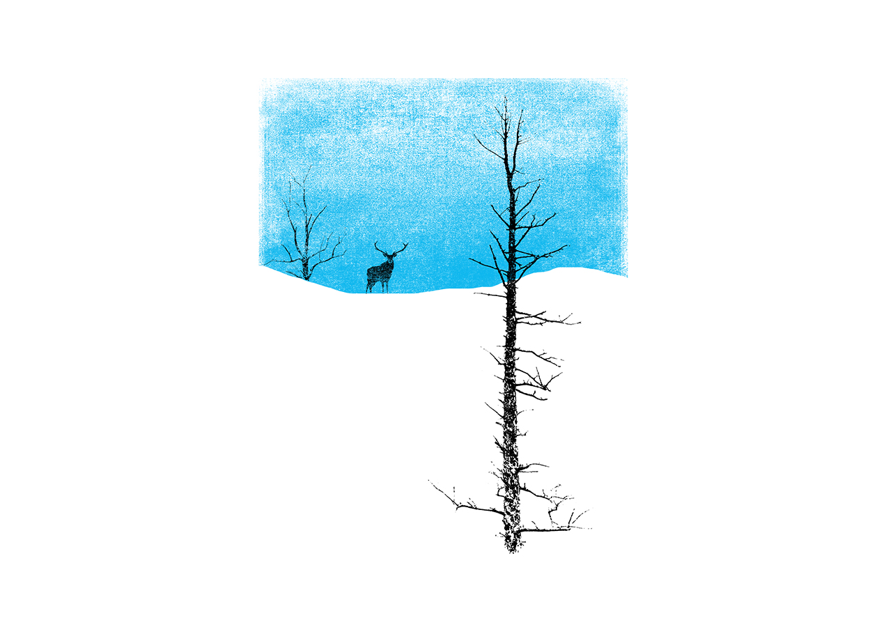 LONELY TREE T-shirt Design by bulo design
