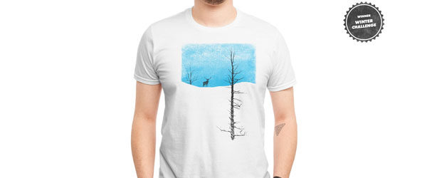 LONELY TREE T-shirt Design by bulo maine