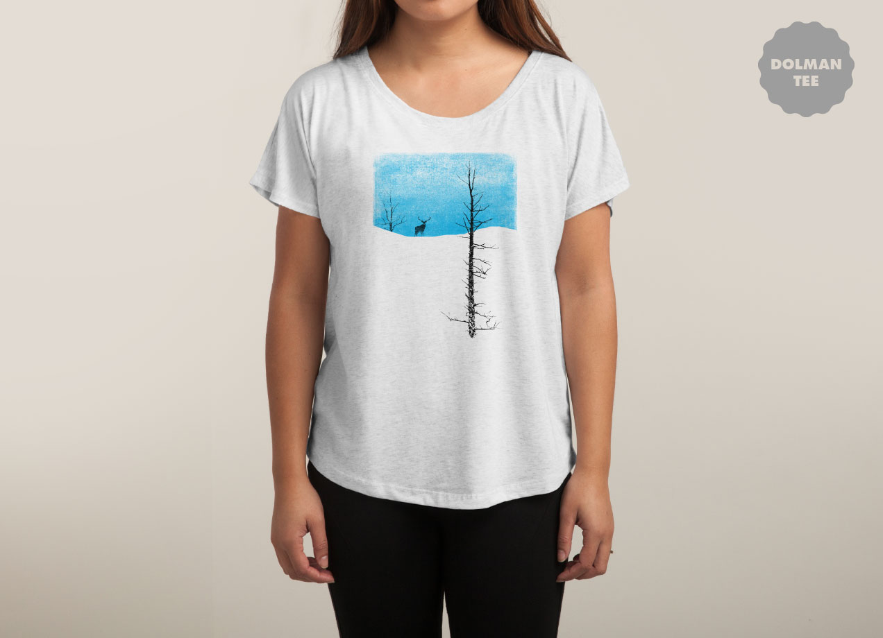 LONELY TREE T-shirt Design by bulo woman