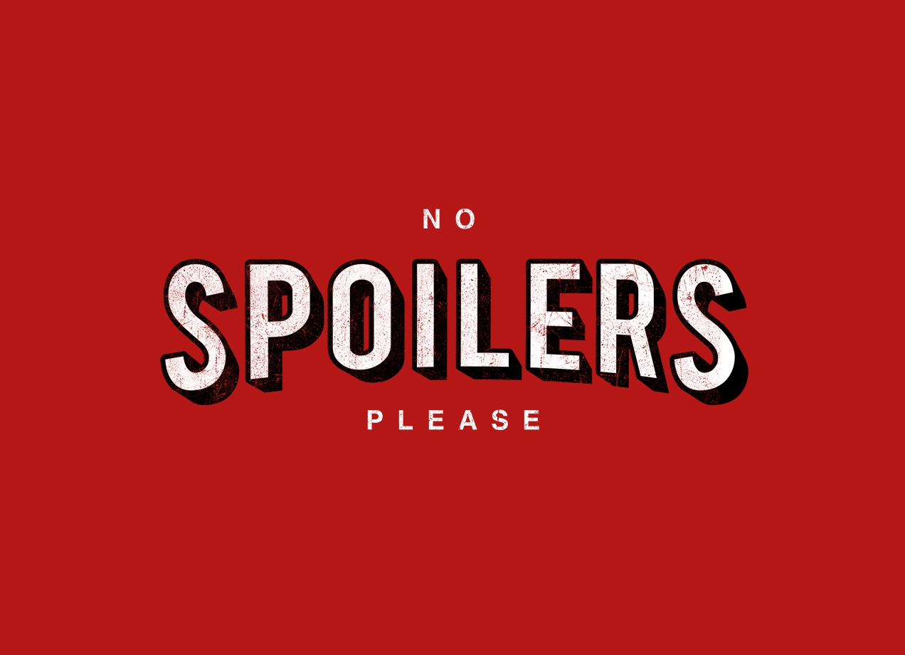 NO SPOILERS T-shirt Design by Jackson Duarte design