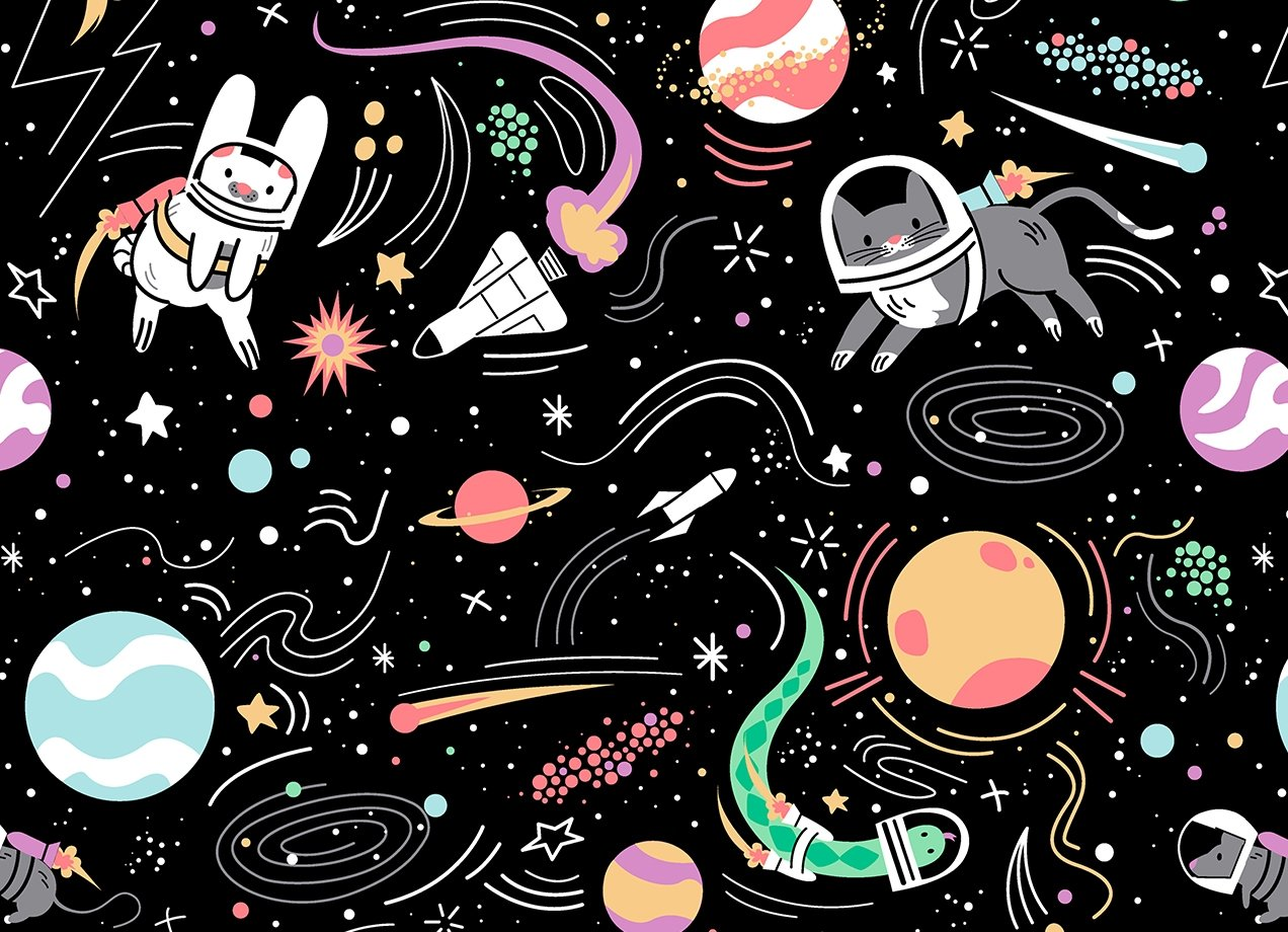 SPACE PETS T-shirt Design Design by Daniel Stevens