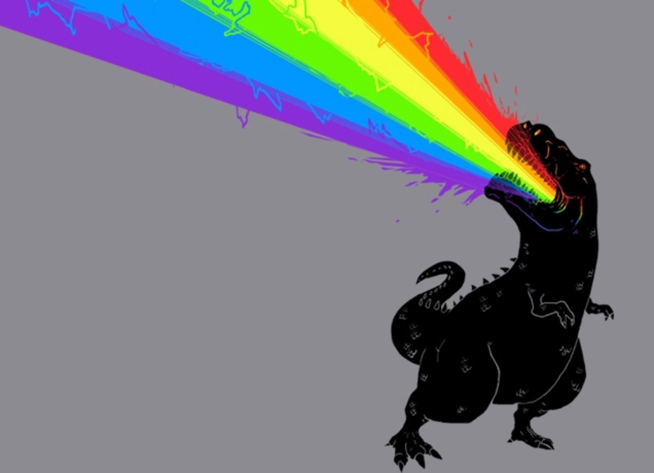 TECHNICOLOUR REX T-shirt Design by Elisha Hale design