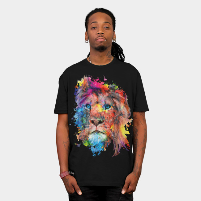 Lion T-shirt Design by rizapeker man