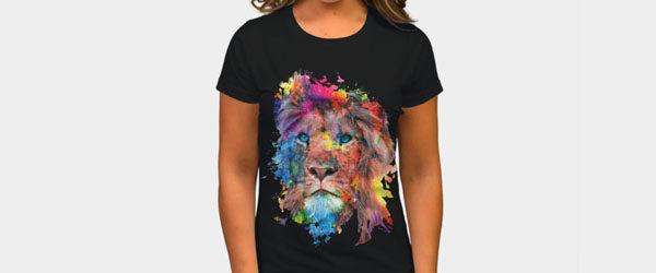 Lion T-shirt Design by rizapeker woman tee main image