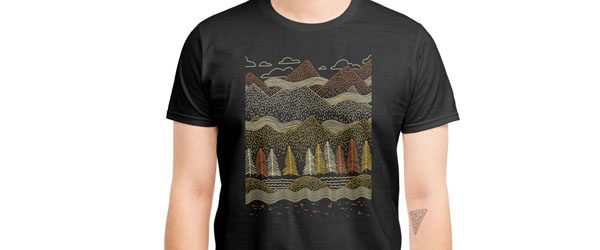 MISTY MOUNTAINS T-shirt Design by Ronan Lynam main