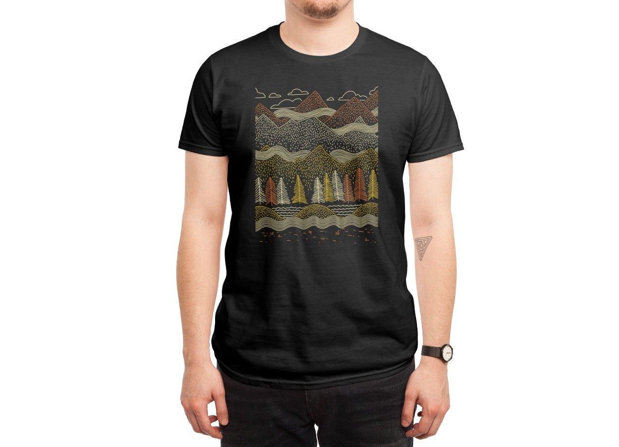MISTY MOUNTAINS T-shirt Design by Ronan Lynam man