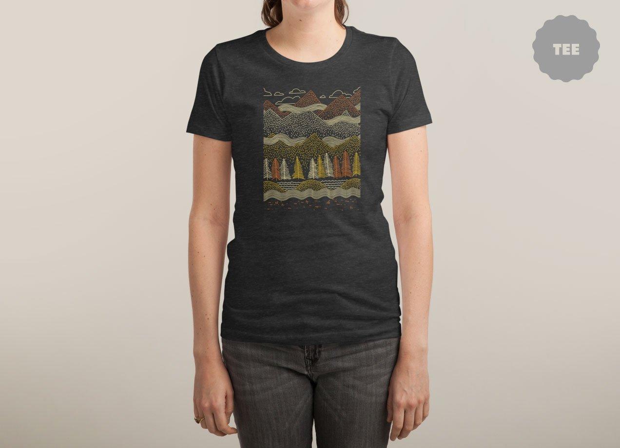 MISTY MOUNTAINS T-shirt Design by Ronan Lynam woman