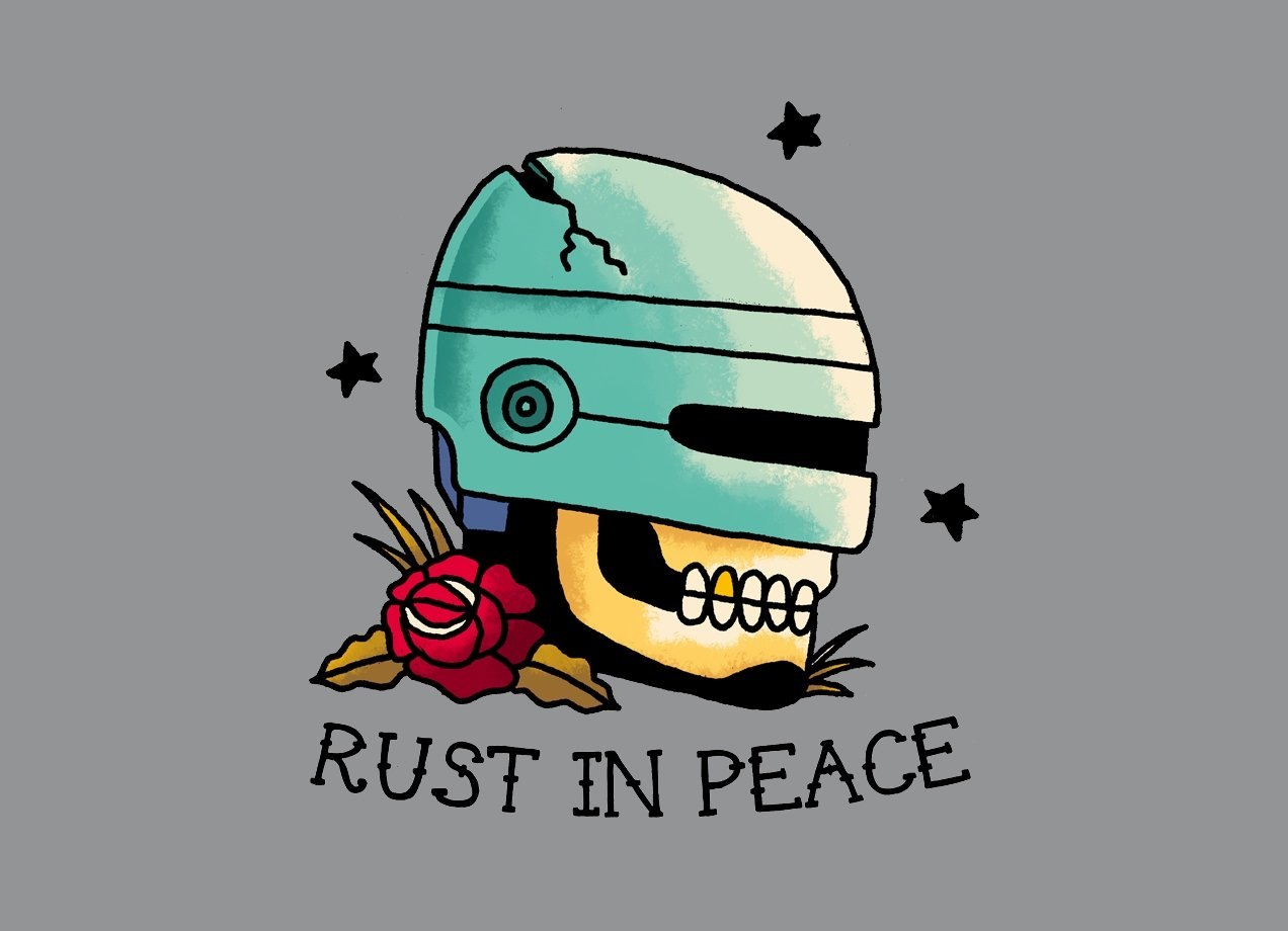 RUST IN PEACE t-shirt Design