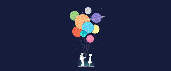 YOU ARE MY UNIVERSE T-shirt Design by Lim Heng Swee design main