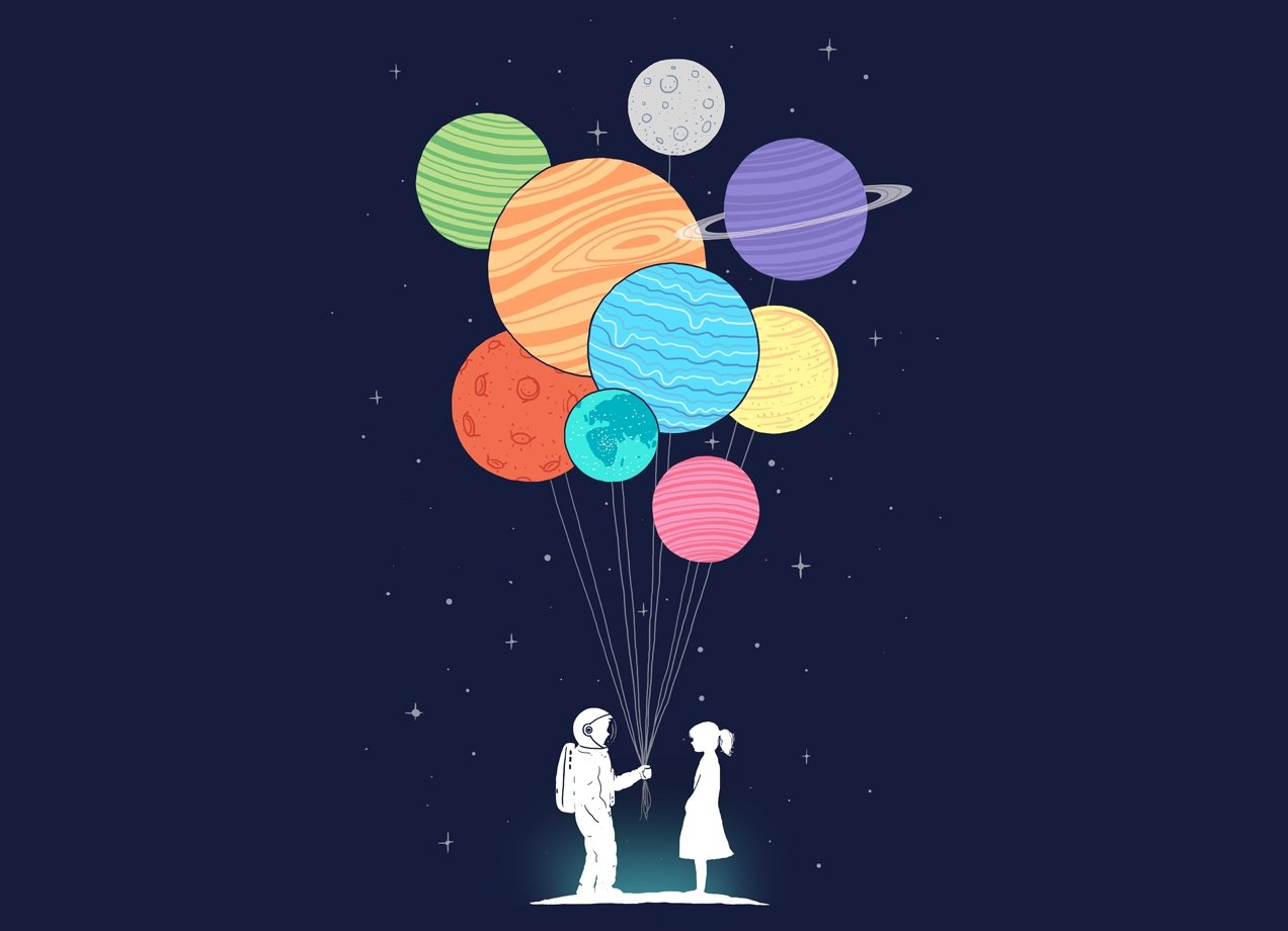 YOU ARE MY UNIVERSE T-shirt Design by Lim Heng Swee design