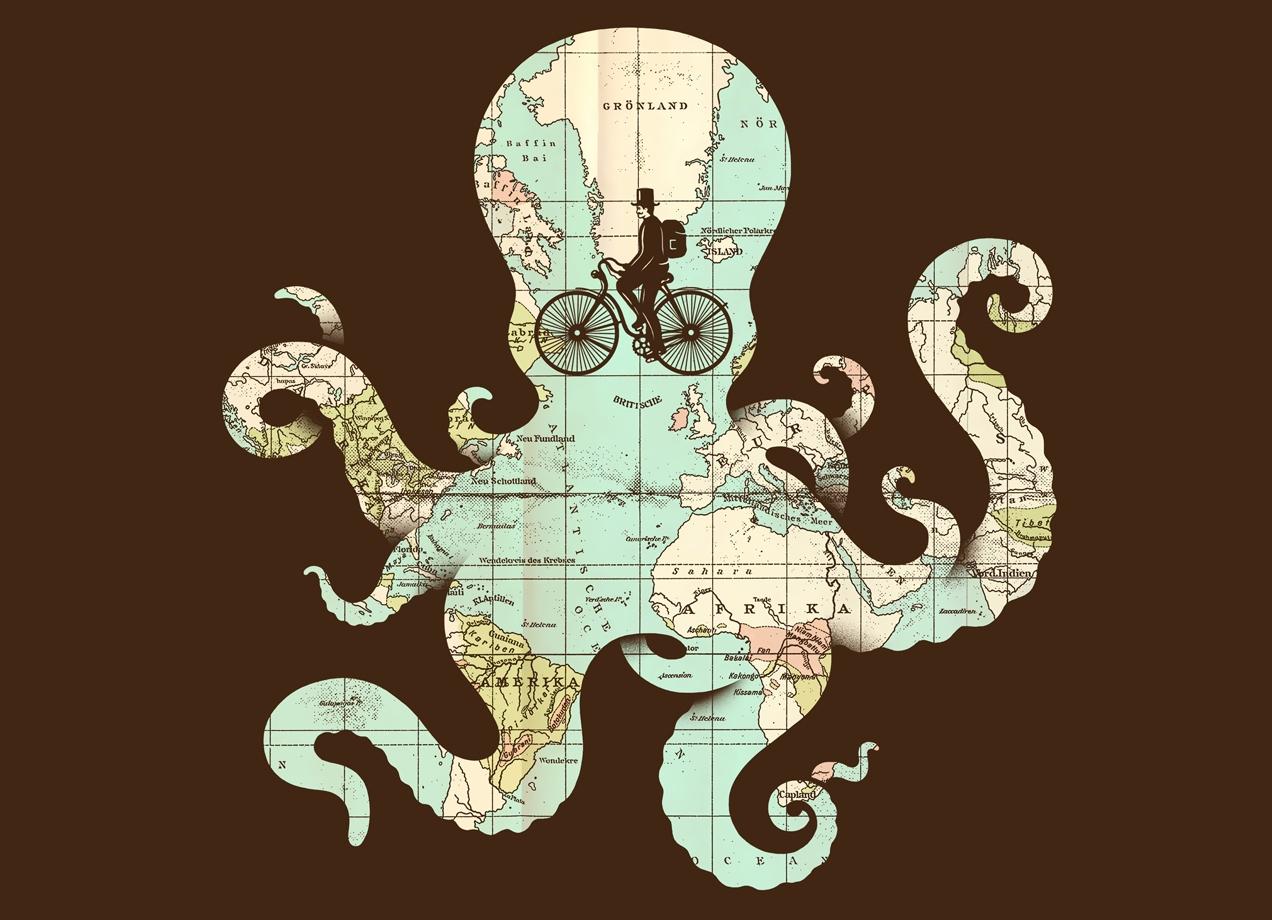 ALL AROUND THE WORLD T-shirt Design by Buko main