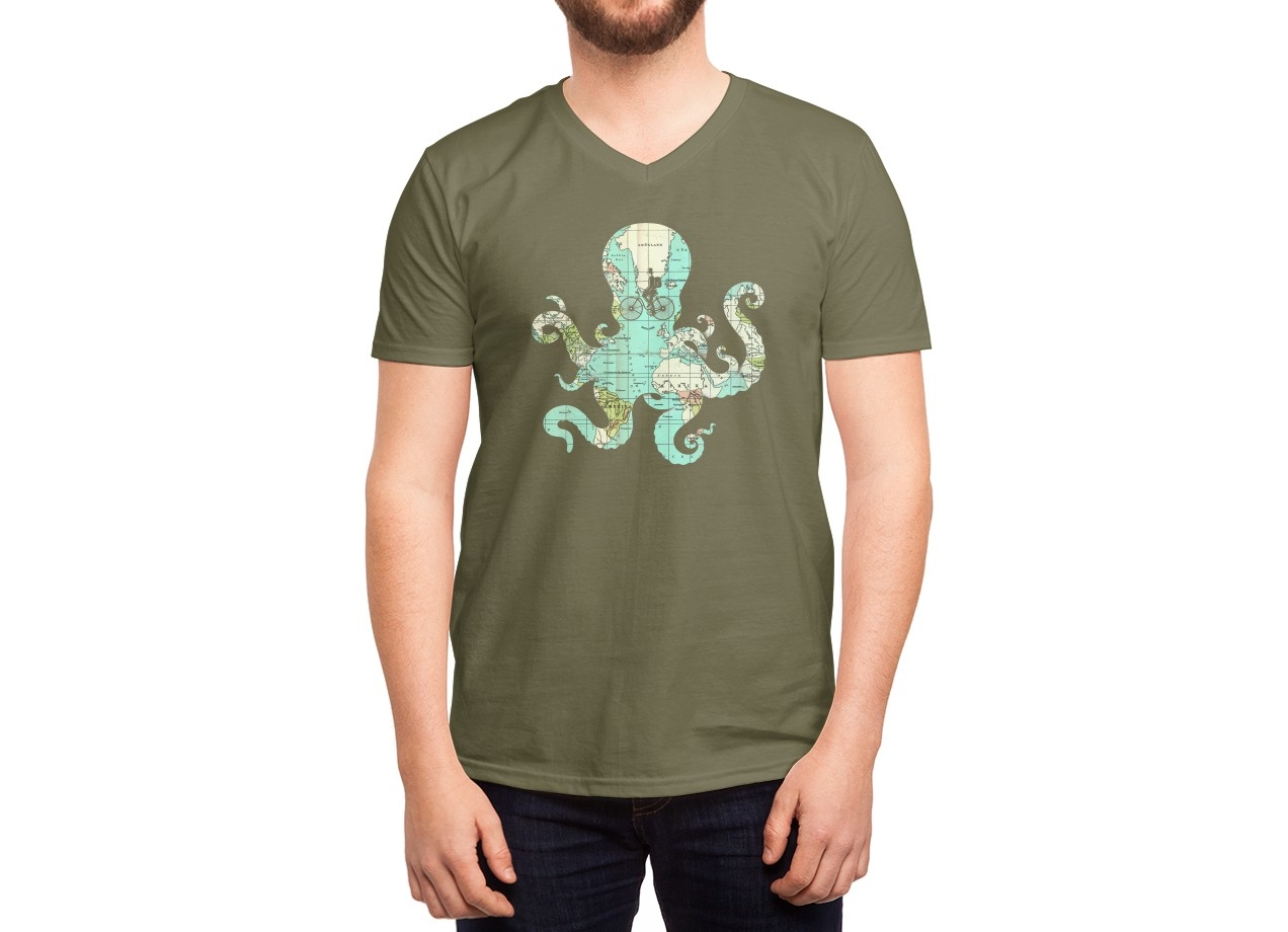 ALL AROUND THE WORLD T-shirt Design by Buko man