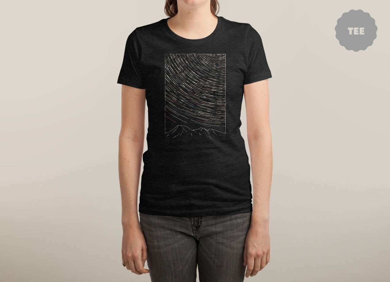 STAR TRAILS T-shirt Design by aparaat woman