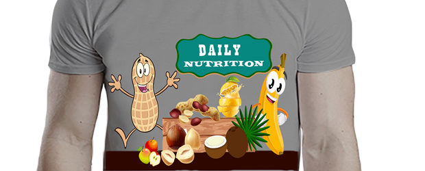 Daily Nutrition T-Shirt, illustration by Raihanul Islam