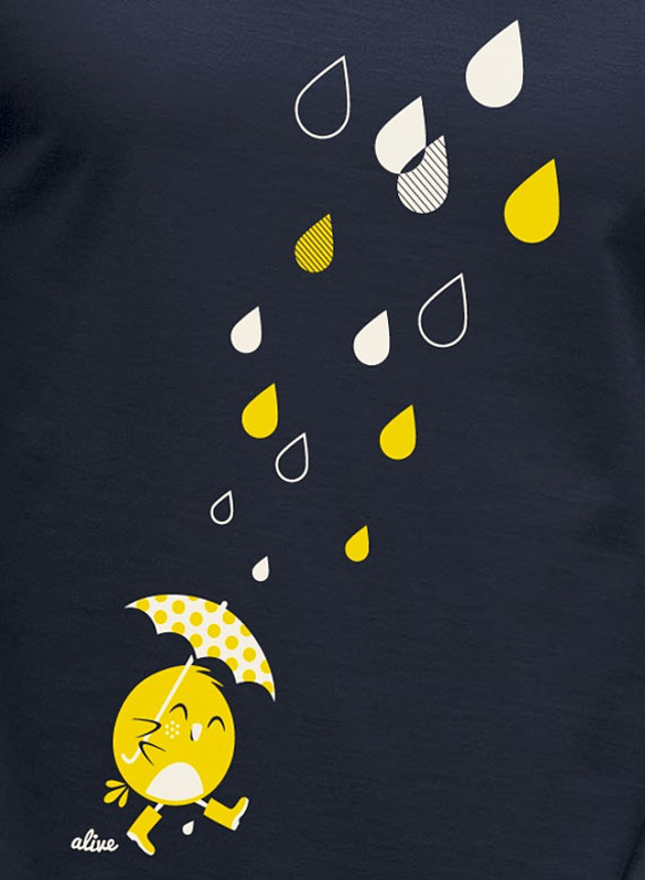 BIRDY in the RAIN T-Shirt design for girls